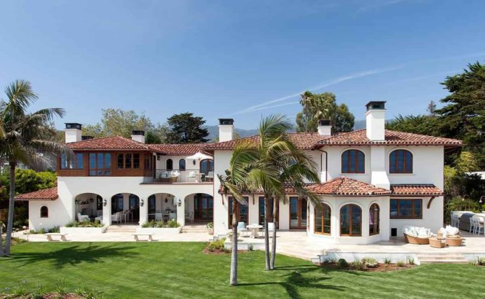 Exterior view of Luxurious Estate Villa in Montecito