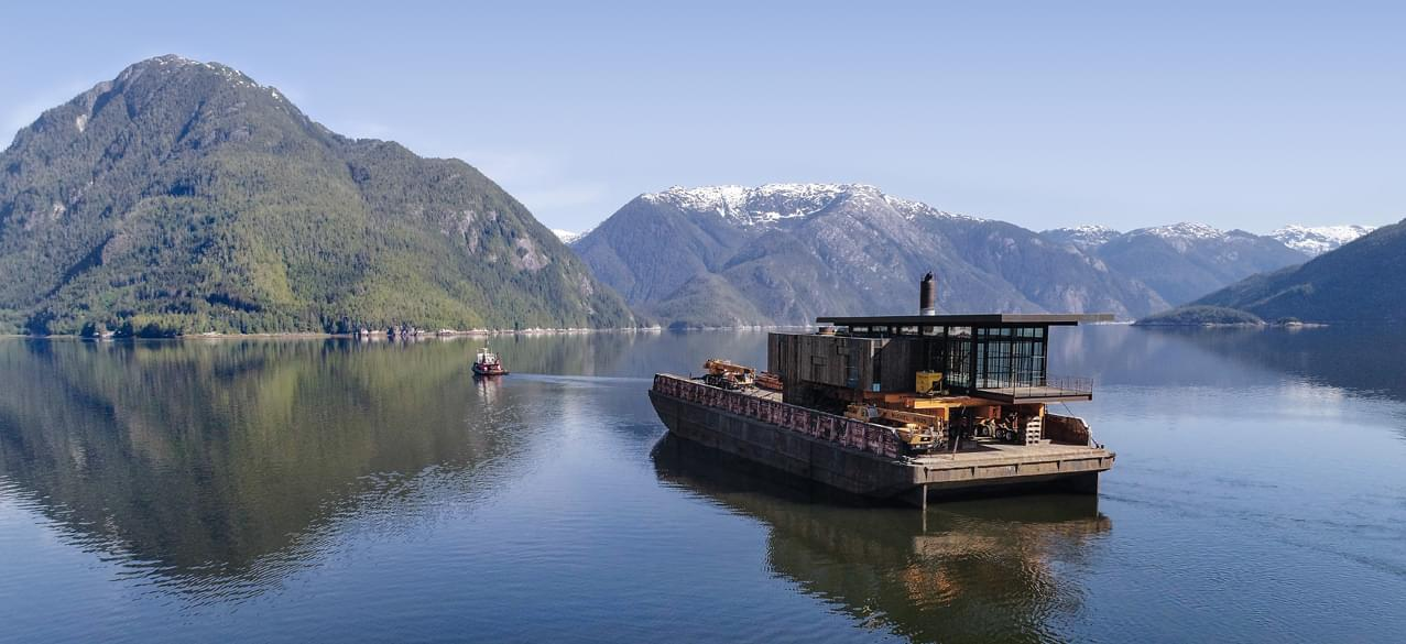 Barge into family compound high end cabins
