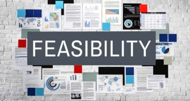 What goes into a feasibility study for a construction project?